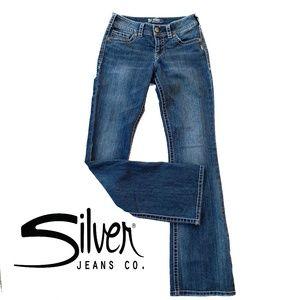SILVER Jeans Sz 28/34 Suki Bootcut Denim